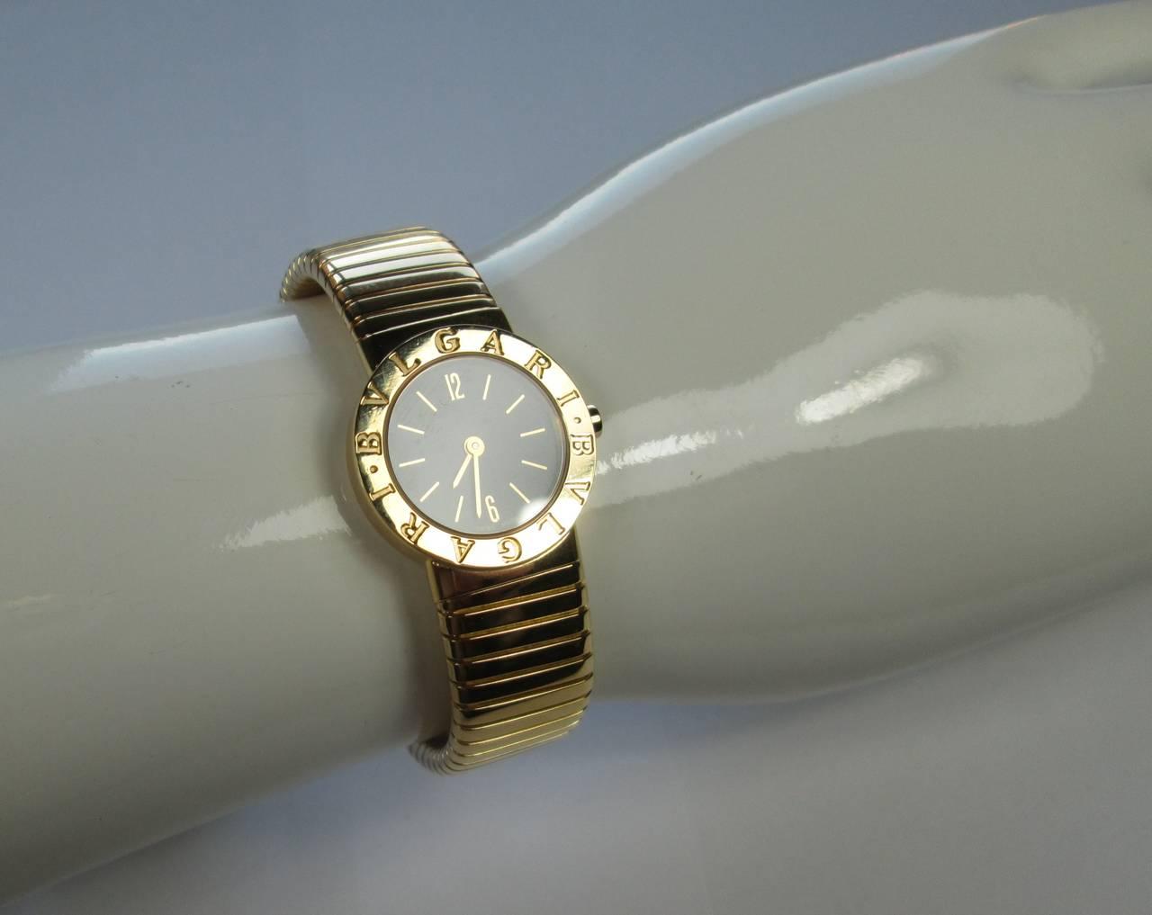 Bulgari Lady's Gold Tubogas Quartz Wristwatch 3