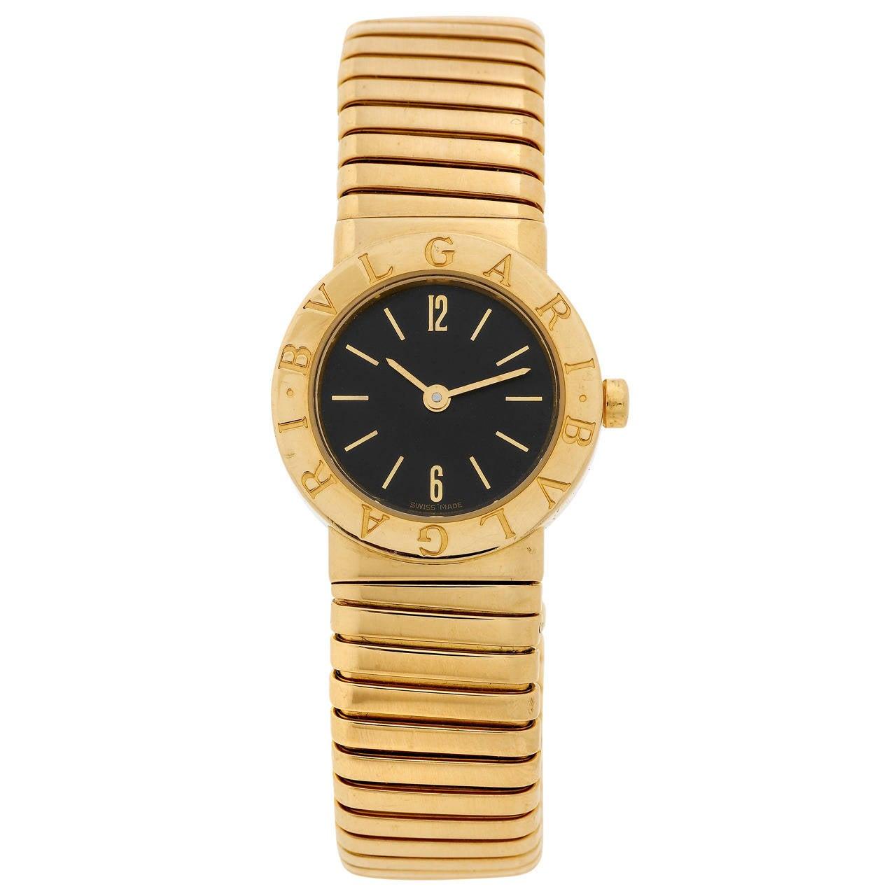 Bulgari Lady's Gold Tubogas Quartz Wristwatch 1