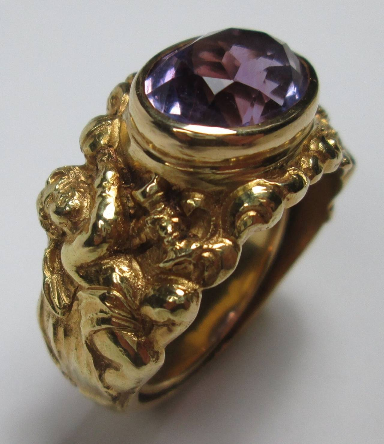 amethyst ring vintage - photo #34