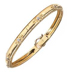 Tiffany And Co Large Atlas Gold Bangle Bracelet At 1stdibs