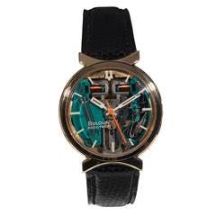 Bulova Rose Gold Accutron Wristwatch circa 1970s