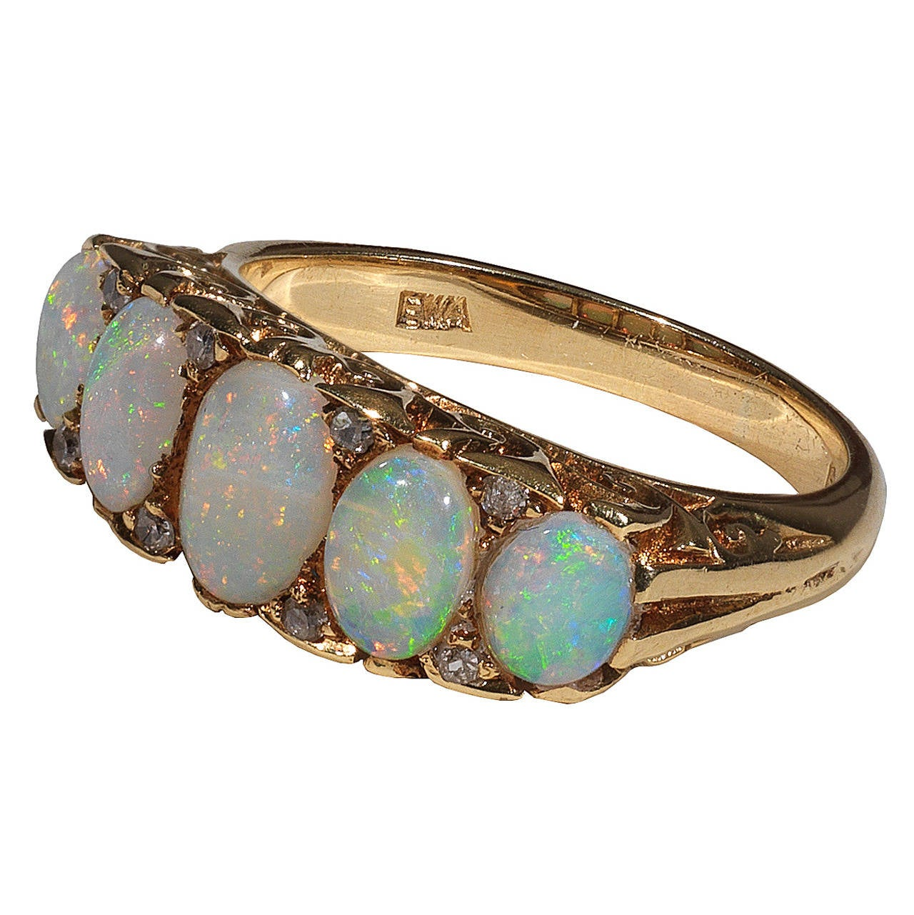 antique opal five ring at 1stdibs