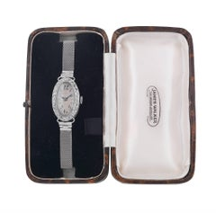 Edwardian Ladies Platinum Diamond Cocktail Wristwatch