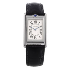 Cartier Stainless Steel Basculante Manual Wind Wristwatch Ref 2390