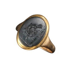 2rd Century AD Roman Bloodstone Intaglio Ring