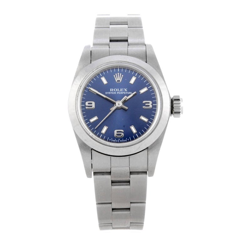 Rolex Ladies Stainless steel Oyster Perpetual Bracelet automatic Wristwatch