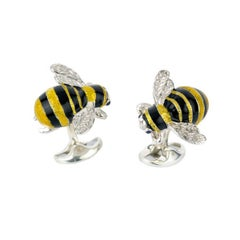 Deakin & Francis Sterling Silver Bumble Bee Cufflinks