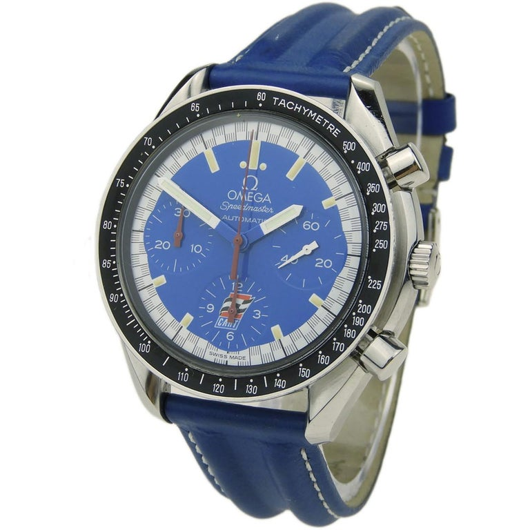 Omega Stainless Steel Speedmaster Indy-Cart Limited Edition automatic Wristwatch