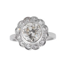 2,40 Carat Diamond Cluster Ring