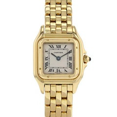 Cartier Panthere Bracelet Watch 18 Carat Yellow Gold Case