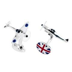 Deakin & Francis Silver Spitfire Cufflinks
