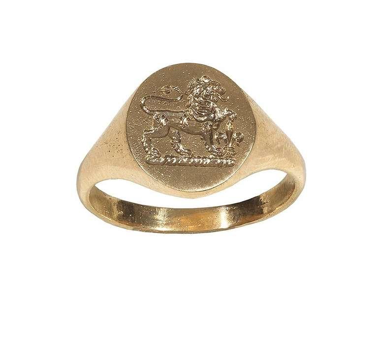 Gold Signet Ring,1905ca 2