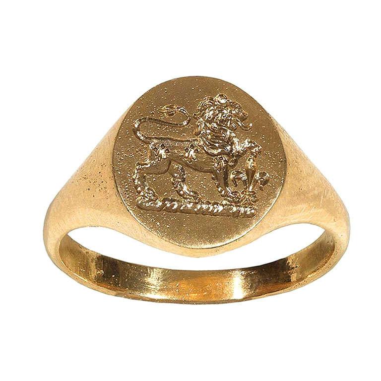 Gold Signet Ring,1905ca 1