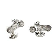 Deakin & Francis Silver Motorbike Cufflinks