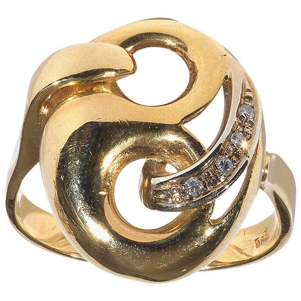 Diamond Gold Mask Ring