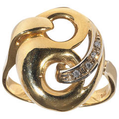 Diamond Gold Mask Ring