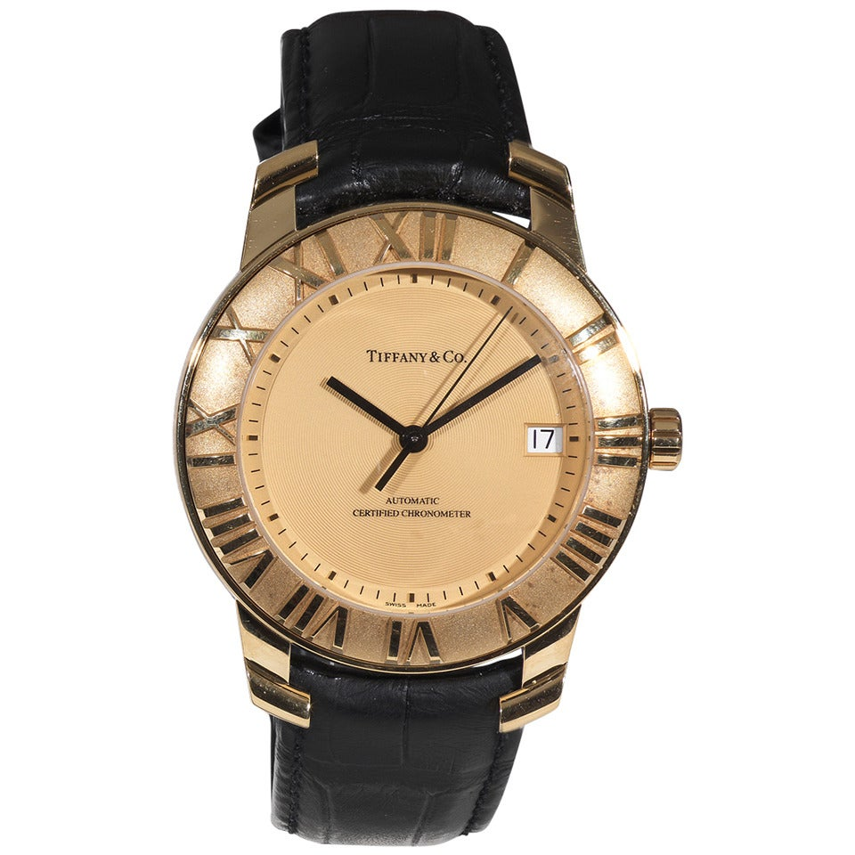 Tiffany And Co Yellow Gold Atlas Automatic Certified