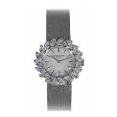 Audemars Piguet Lady's White Gold Diamond Bracelet Wristwatch