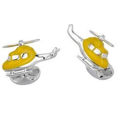 Deakin & Francis Silver Helicopter Cufflinks