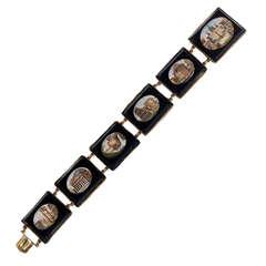19th Century Gold Micromosaic Bracelet