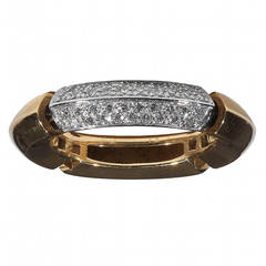 Diamond Two Color Gold Band Ring