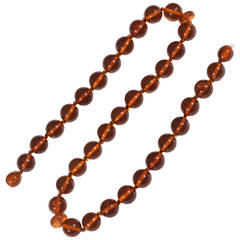 Amber Round Bead Necklace