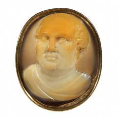 Antique Agate Cameo Ring of Cicero