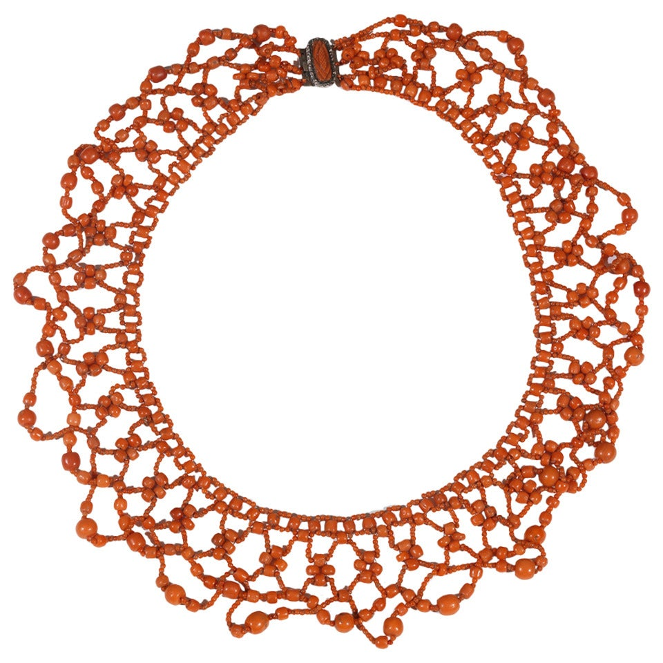 A 19th Century Coral Bead Necklace 1
