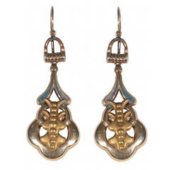 Pair of Antique Gold Earrings