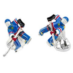Deakin & Francis Ice Hockey Player Cufflinks