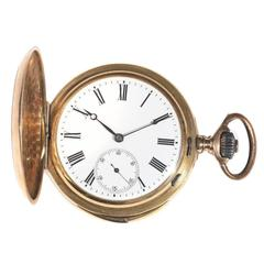 LeCoultre & Co Rose Gold Keyless Wind Minute Repeating Full Hunter Pocket Watch