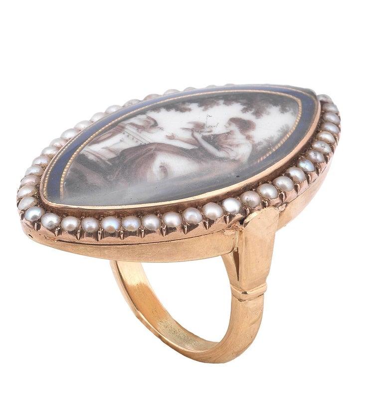 antique georgian memorial pearl ring for sale at 1stdibs