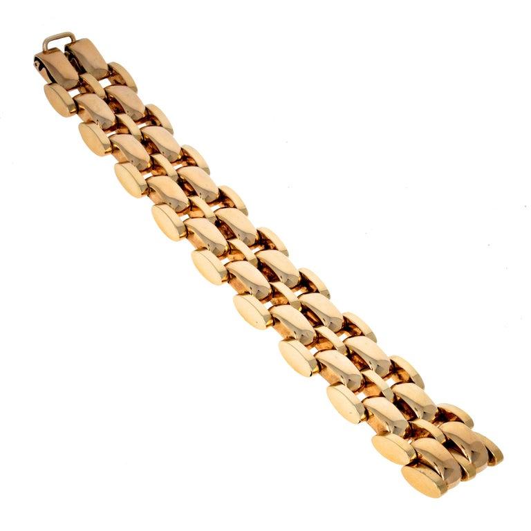 Retro Tank Bracelet 14 Karat Yellow Gold