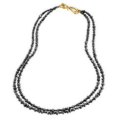 Naomi Sarna Two Strand Black Diamond Bead Necklace