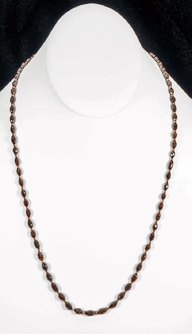 Women's Naomi Sarna Brown Diamond Gold Bead Necklace For Sale