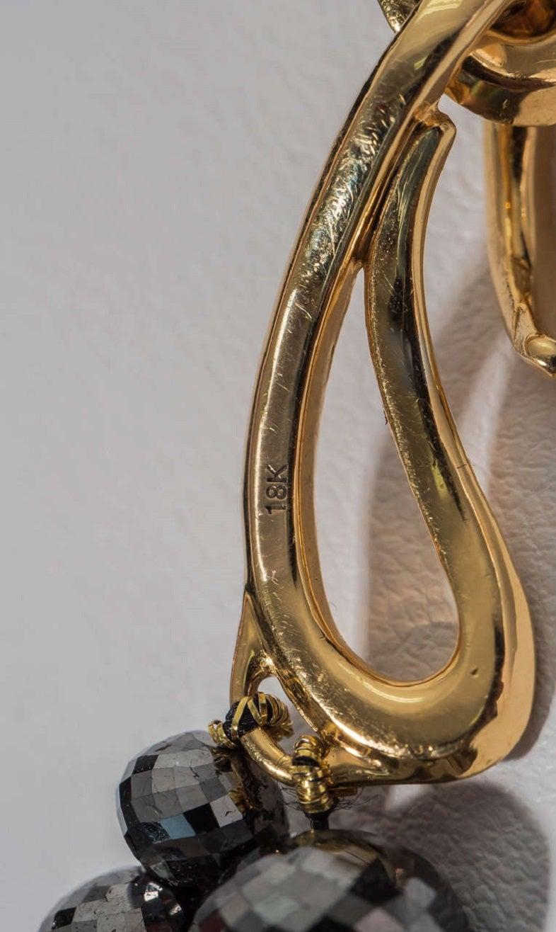 Naomi Sarna Black Diamond Necklace with 18K Gold and White Diamond Clasp For Sale 6