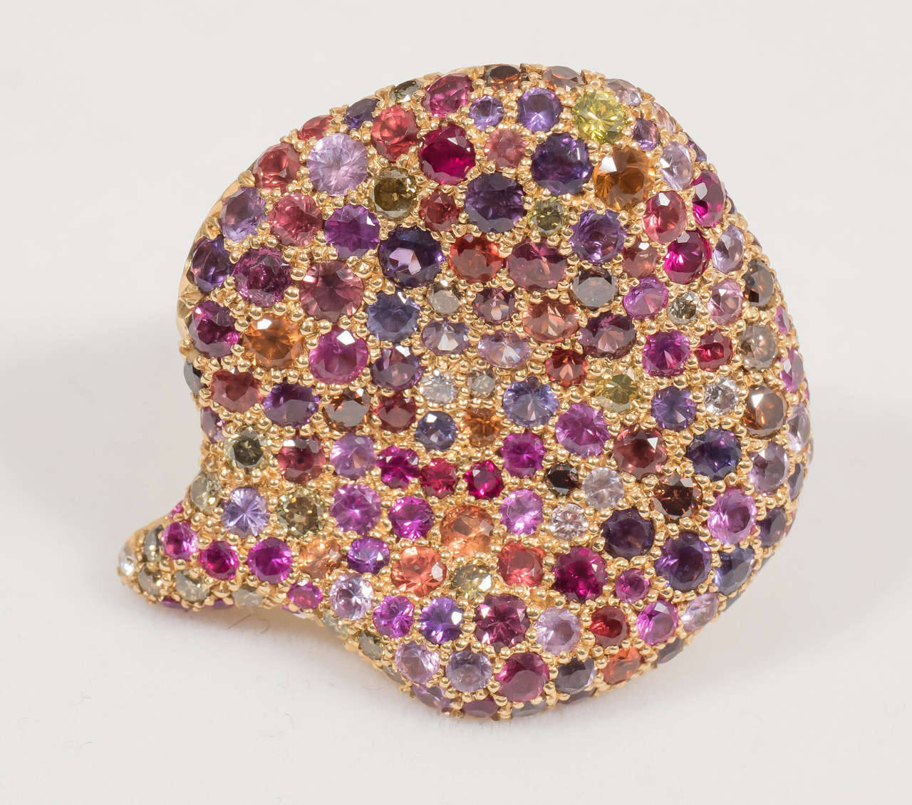 Naomi Sarna Amethyst Garnet Ruby Sapphire Diamond Gold Autumn Ring For Sale 1