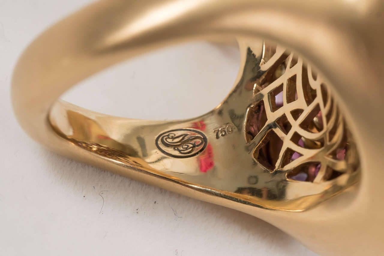 Naomi Sarna Amethyst Garnet Ruby Sapphire Diamond Gold Autumn Ring For Sale 4