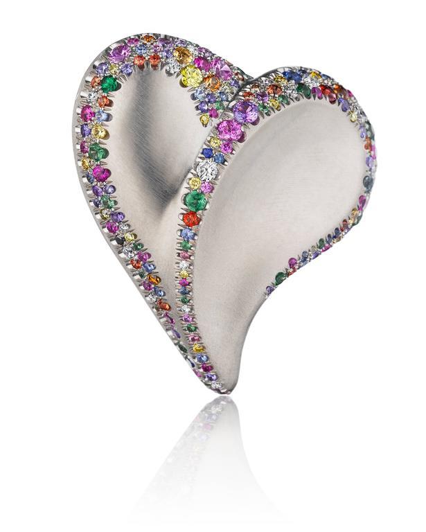 Naomi Sarna Confetti Heart Ring For Sale 4