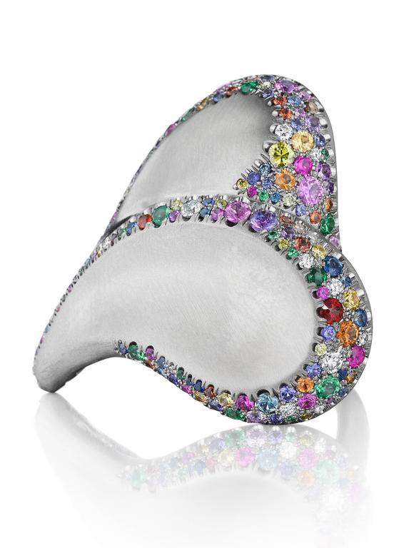 Naomi Sarna Confetti Heart Ring For Sale 2