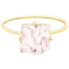 Misui 18 Karat Yellow Gold 2 Carat Morganite Gemstone Ring