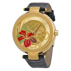 Authentic New Versace Mystique Hibiscus Steel Quartz Watch
