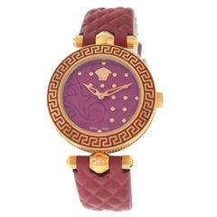 Authentic New Versace Vanitas Gold Tone Steel Quartz Watch