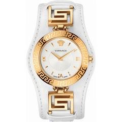 Authentic New Versace V-Signature Gold-Plated Quartz Watch