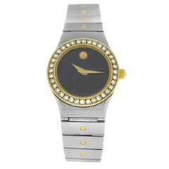 Ladies Movado Steel Yellow Gold Diamond Quartz Watch
