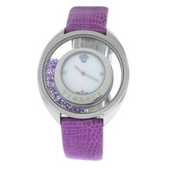 New Versace Destiny Spirit Floating Crystals Quartz Watch