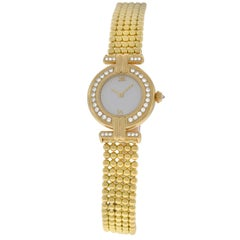 Ladies Cartier Colisee 1980 Quartz Solid 18 Karat Yellow Gold Diamond Watch