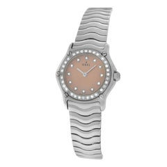 Authentic Ladies Ebel Sport Wave Steel Diamond Quartz Watch