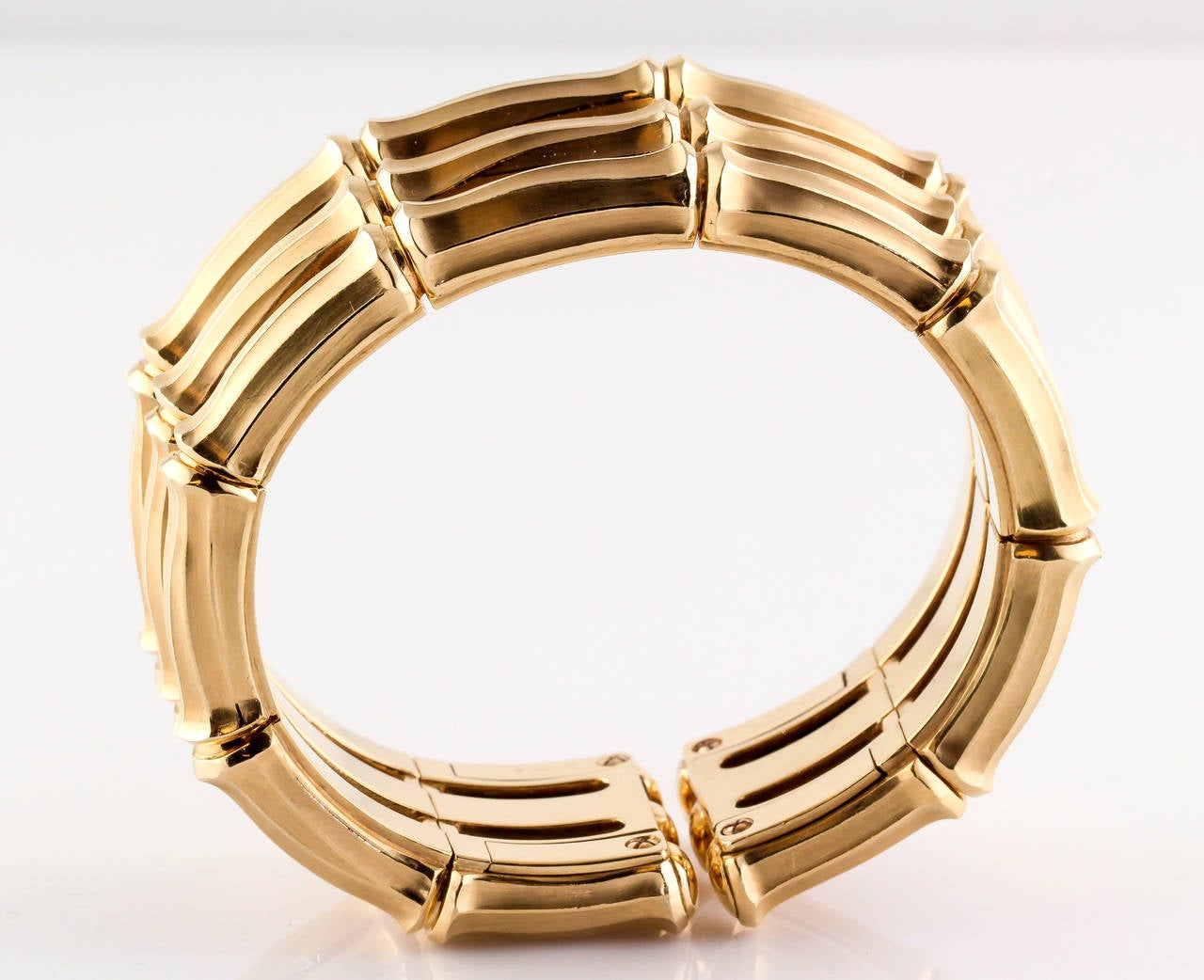 cartier bamboo two tone gold cuff bracelet at 1stdibs. Black Bedroom Furniture Sets. Home Design Ideas