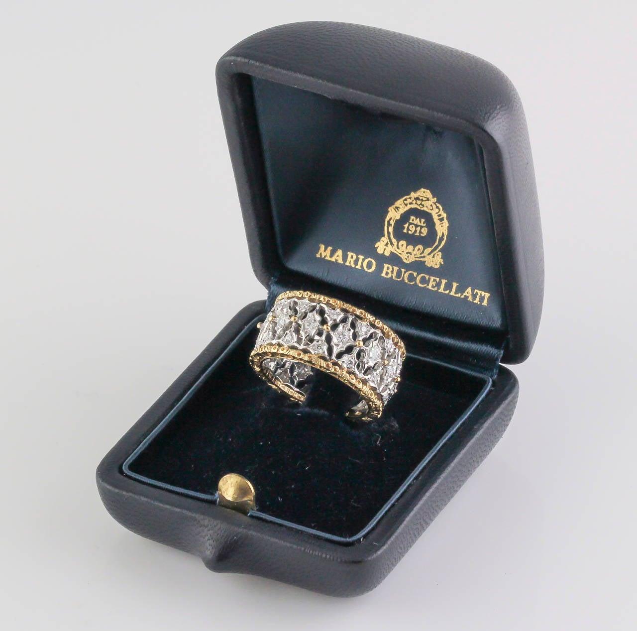 M. Buccellati Diamond Gold Band Ring For Sale 1